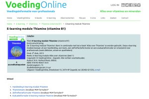 E-learning modules VoedingOnline in HTML-formaat op iPad